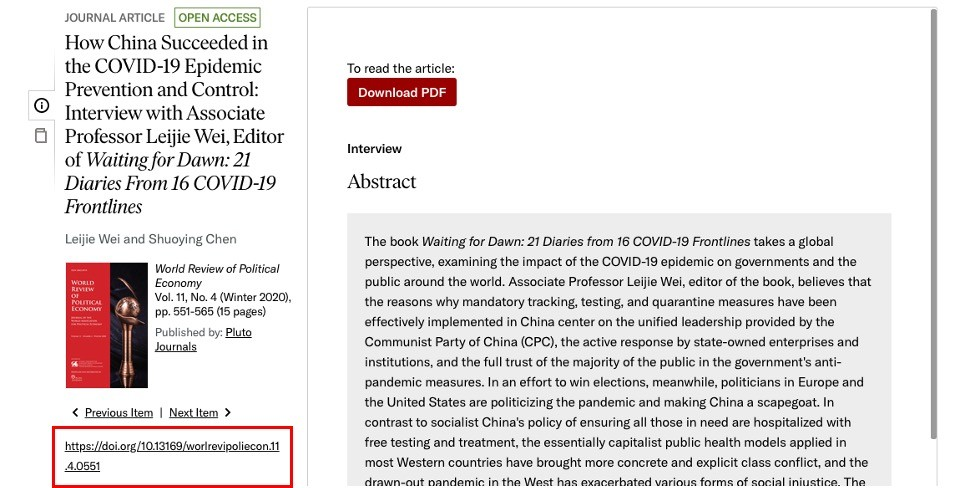What is DOI - Research Tweet J1